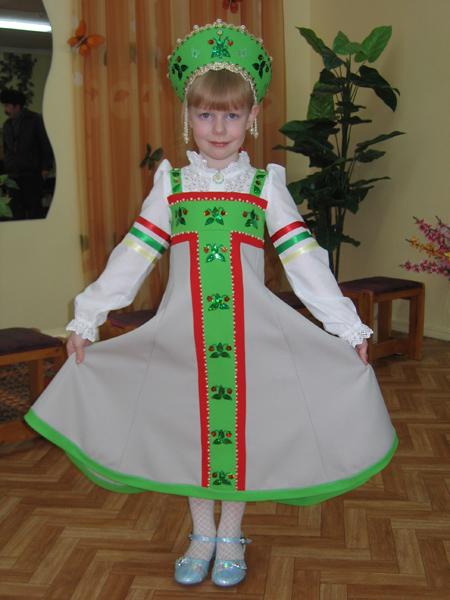 Русский костюм для девочки своими руками выкройки фото 842