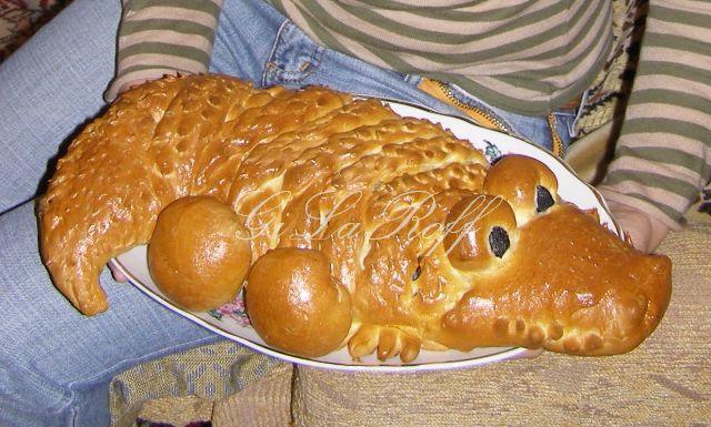 Мясной пирог крокодил